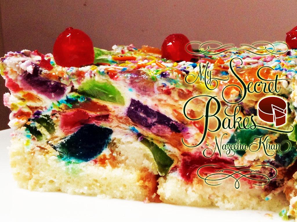 Confetti Rainbow Pineapple Cream Cake My Secret Bakes Nazeeha Khan